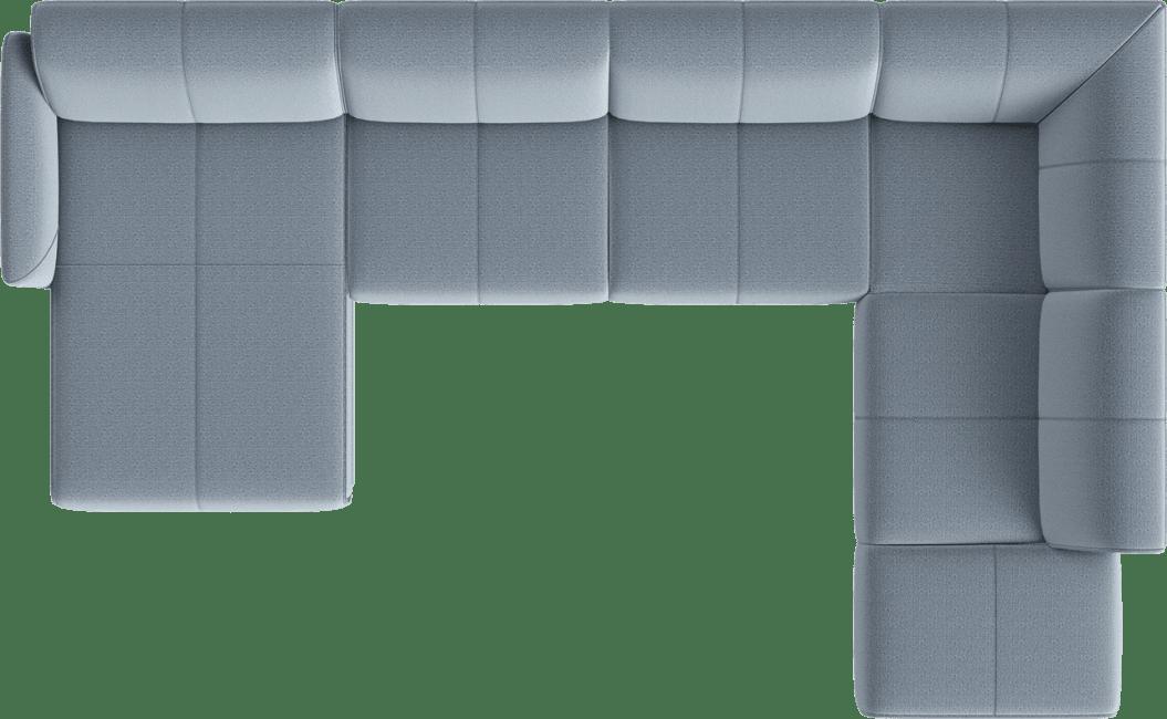 XOOON - Manarola - Banken - Longchair links - 2,5 zits zonder armen - ottomane rechts