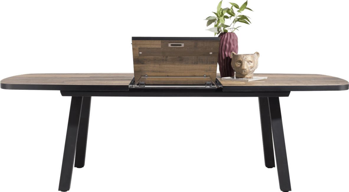 Henders & Hazel - Avalox - Industrie - ausziehtisch oval 190 (+ 60) x 110 cm