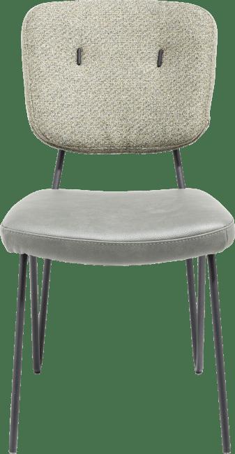 XOOON - June - chaise - cadre off black + ressorts ensaches - combi tissu pala (siege) et tissu cleo (dos)