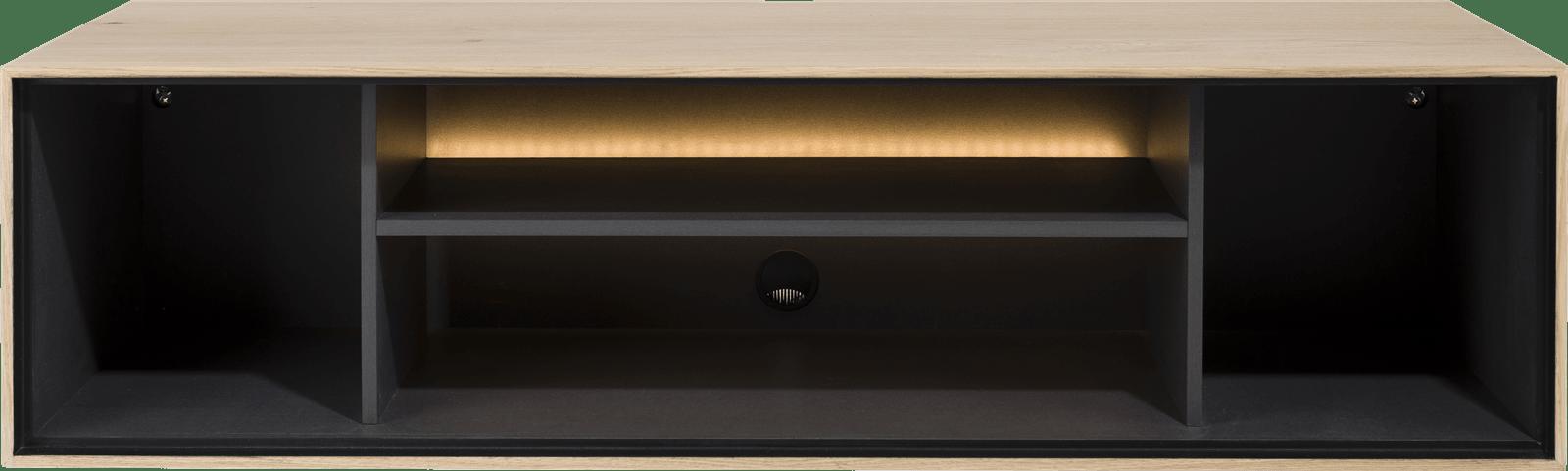 XOOON - Elements - Minimalistisches Design - box 30 x 120 cm. - holz - zum aufhaengen + 4-nischen + led
