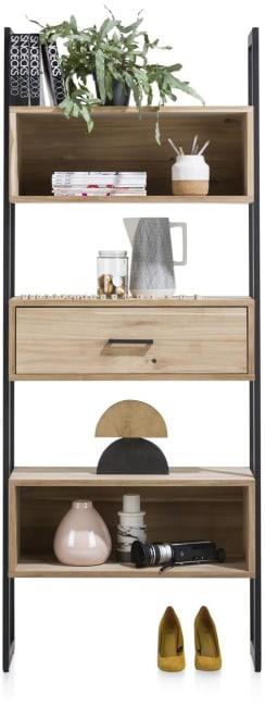 XOOON - Kinna - Scandinavisch design - boekenkast 80 cm - 1-lade + 5-niches