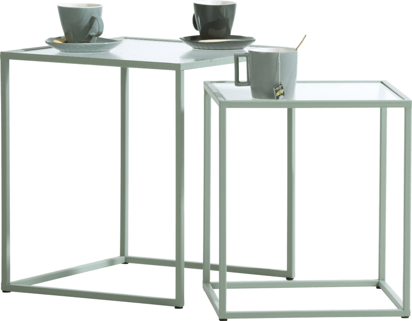 XOOON - Coco Maison - felix set of 2 side tables h45-40cm