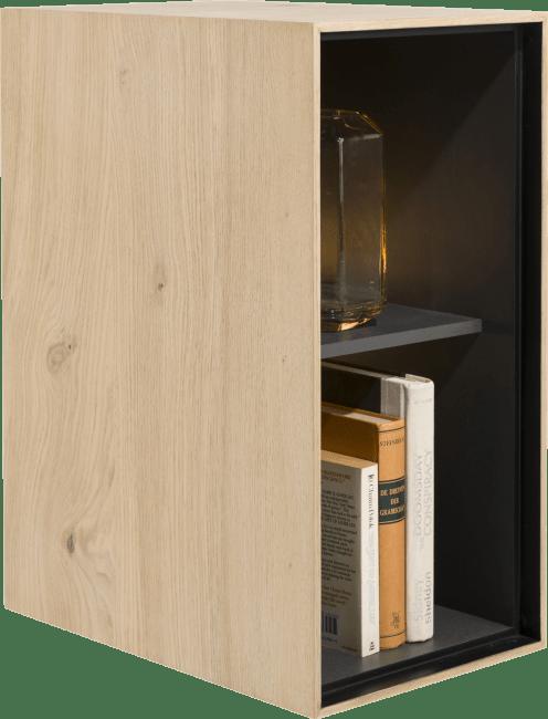 XOOON - Elements - Minimalistisches Design - box 60 x 30 cm. - holz - zum aufhaengen + 2-nischen + led