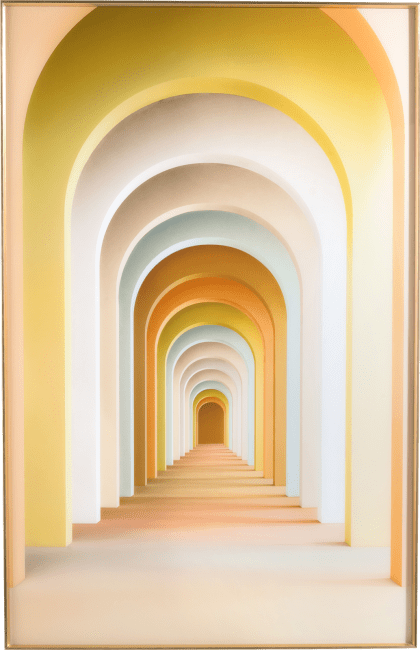 Happy@Home - Coco Maison - rainbow arches print 90x140cm