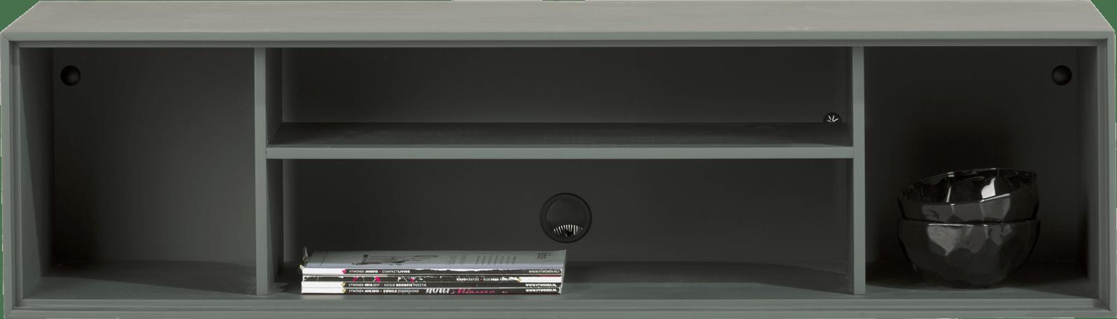 XOOON - Elements - Minimalistisches Design - box 30 x 120 cm. + regal - lackiert - zum aufhaengen + 4-nischen + led