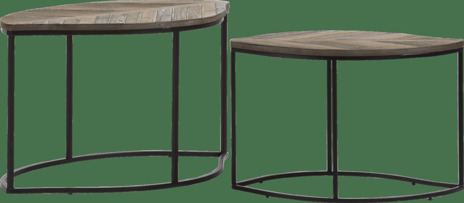 Happy@Home - Coco Maison - willow set van 2 bijzettafels h47-42cm