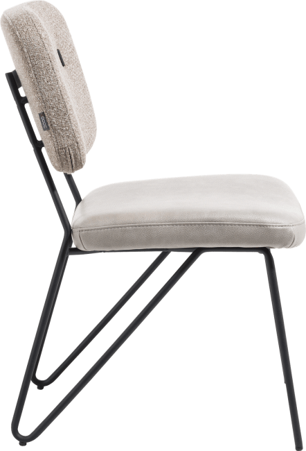 XOOON - June - chaise sans accoudoirs - cadre off black + ressorts ensaches