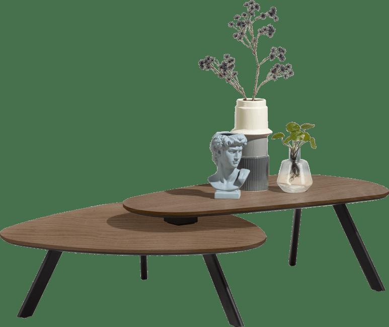 Henders & Hazel - Livada - Modern - satz von 2 couchtisch - 90 x 90 cm + 110 x 60 cm