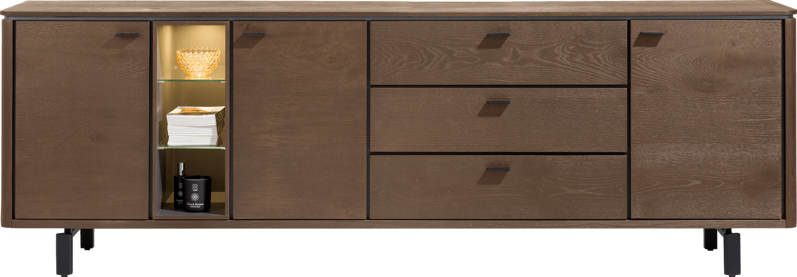 Henders and Hazel - Livada - Modern - dressoir 240 cm. - 3-deuren + 3-laden + 3-niches