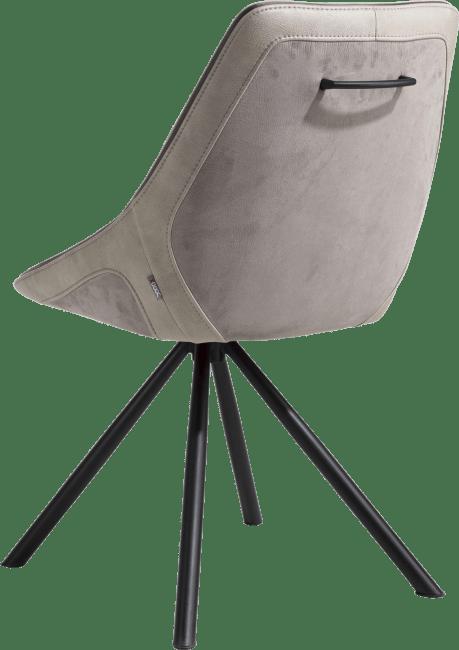 XOOON - Arwen - eetkamerstoel zwart frame 4-poots + combi stof savannah / pala
