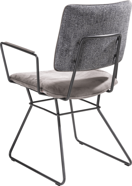 XOOON - Otis - design Scandinave - fauteuil - cadre noir - combinaison kibo / fantasy