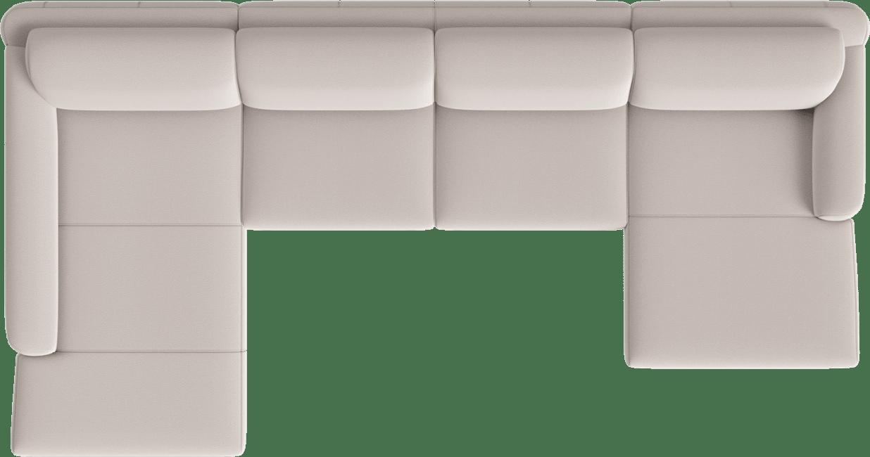 XOOON - Zilvano - Sofas - Longchair xxl links - 3 Sitzer ohne Armlehne - Longchair rechts