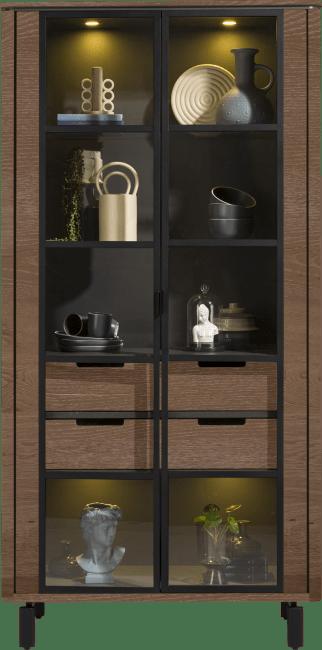 Henders & Hazel - Livada - Modern - vitrine 100 cm. - 2-glastueren + 2-laden