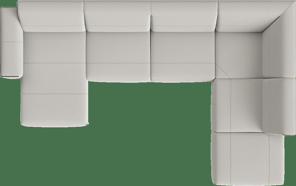 XOOON - Prizzi - Banken - Longchair links - 2,5 zits zonder arm - hoek - ottomane small rechts