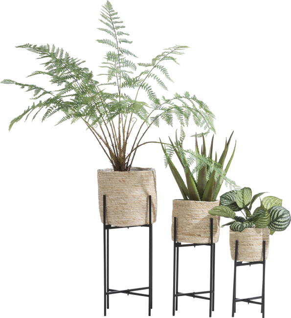 XOOON - Coco Maison - tulum set of 3 planters h67-53-41cm