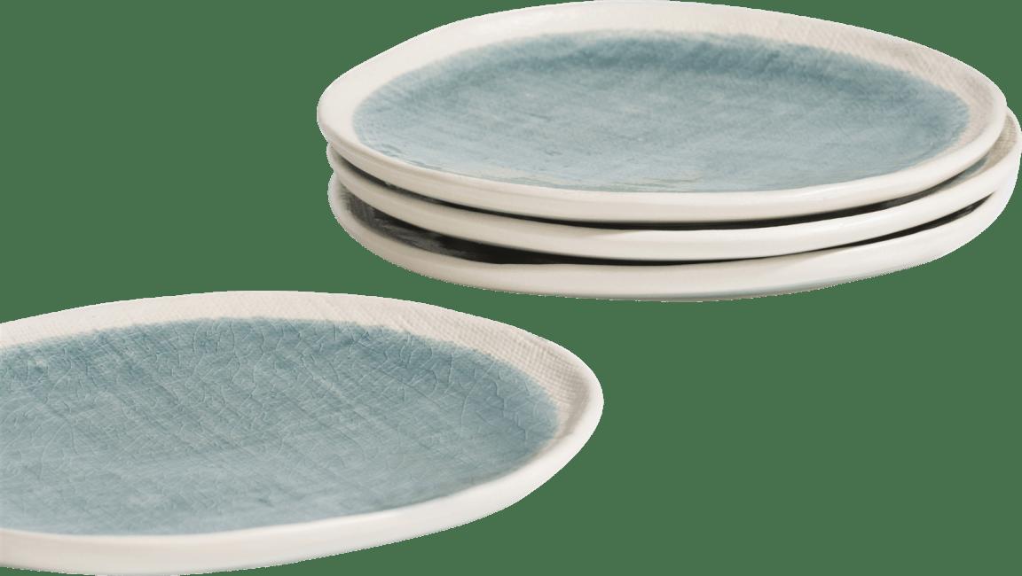 Happy@Home - Coco Maison - amalfi set van 4 borden d21cm