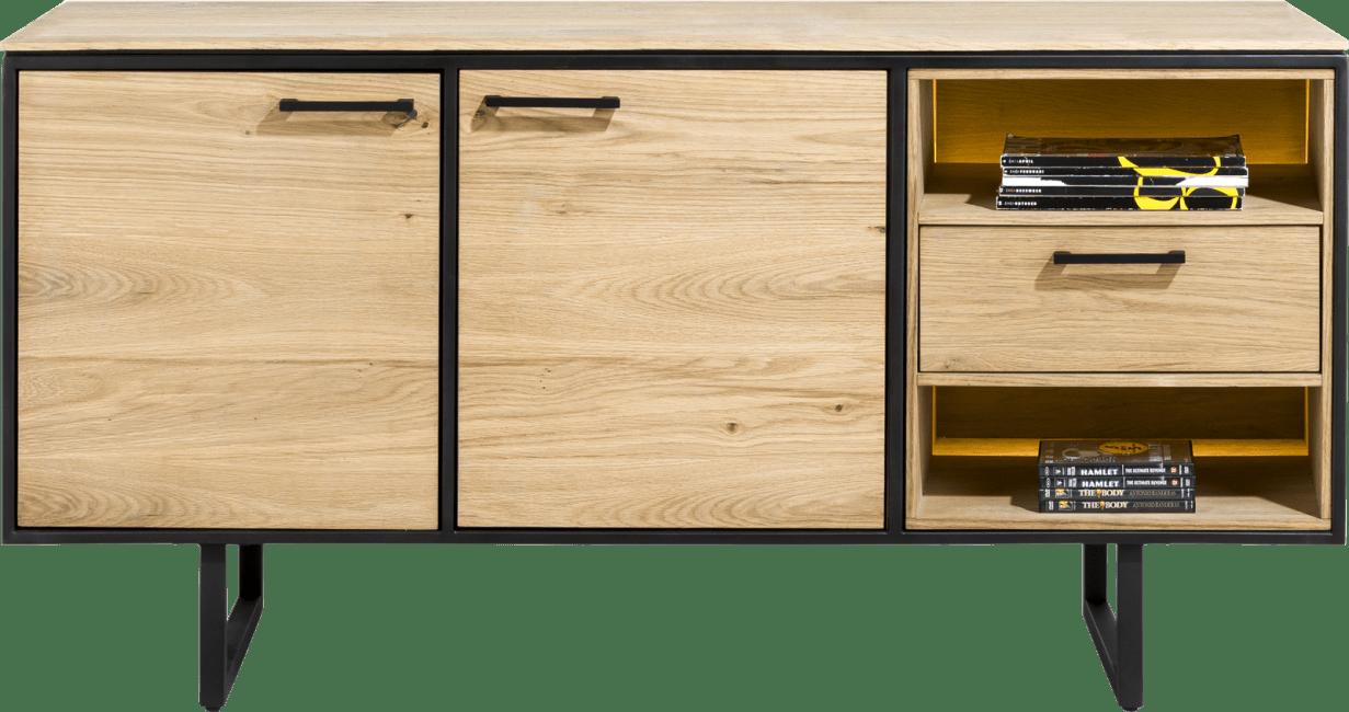 XOOON - Belo - sideboard 160 cm. - 2-tueren + 1-lade + 2-nischen (+ led)
