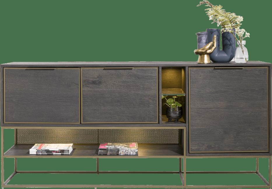 Henders & Hazel - City - Industrie - sideboard 190 cm. - 3-tueren + 3-nischen (+ led)