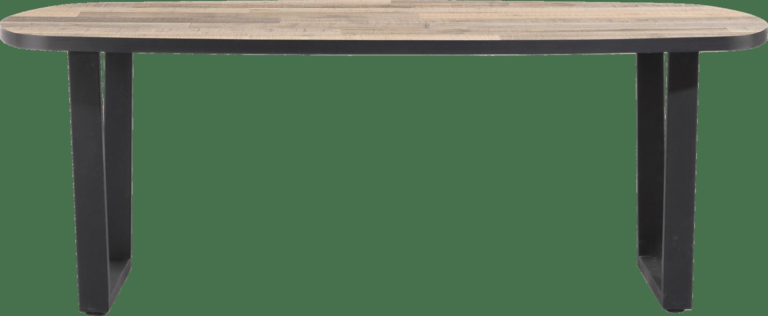 Henders and Hazel - Avalox - Industrieel - eetkamertafel ovaal 210 x 110 cm