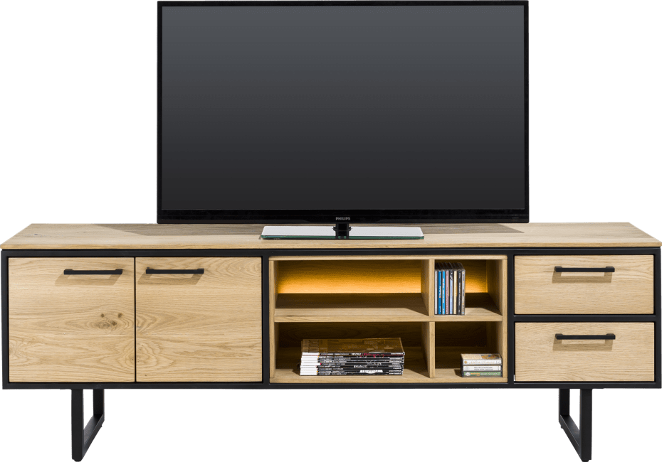 XOOON - Belo - lowboard 180 cm - 2-doors + 2-drawers + 4-niches (+ led)