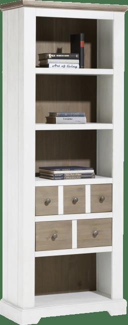 Henders and Hazel - Le Port - Landelijk - boekenkast 75 cm - 2-laden + 4-niches
