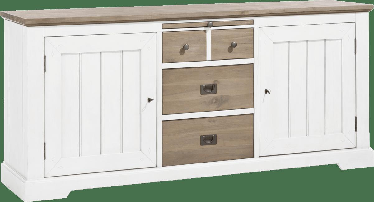 Henders and Hazel - Le Port - Landelijk - dressoir 190 cm - 2-deuren + 3-laden + 1-uitschuifplateau