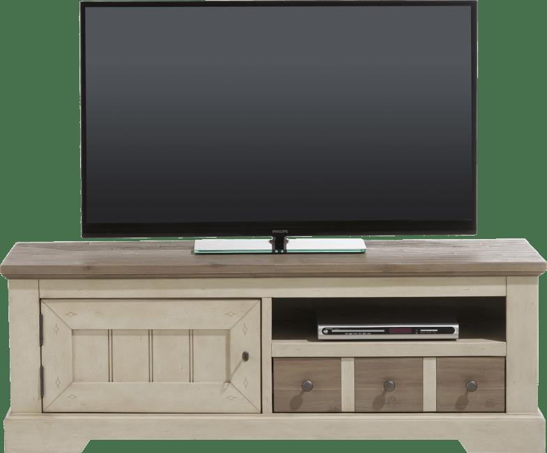 Henders & Hazel - Le Port - Landlich - tv-sideboard 140 cm - 1-tuer + 1-lade + 1-nische
