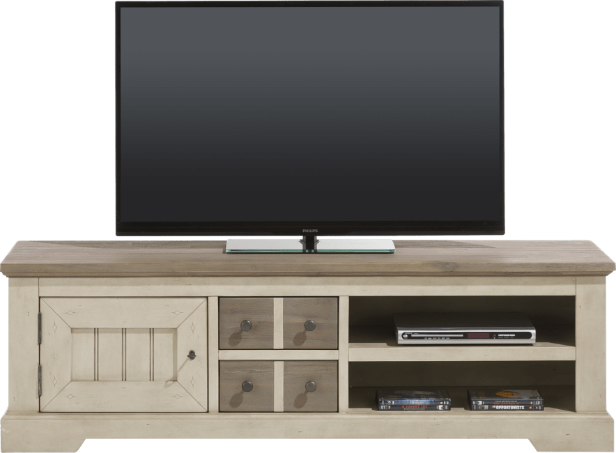 Henders and Hazel - Le Port - Landelijk - tv-dressoir 160 cm - 1-deur + 2-laden + 2-niches