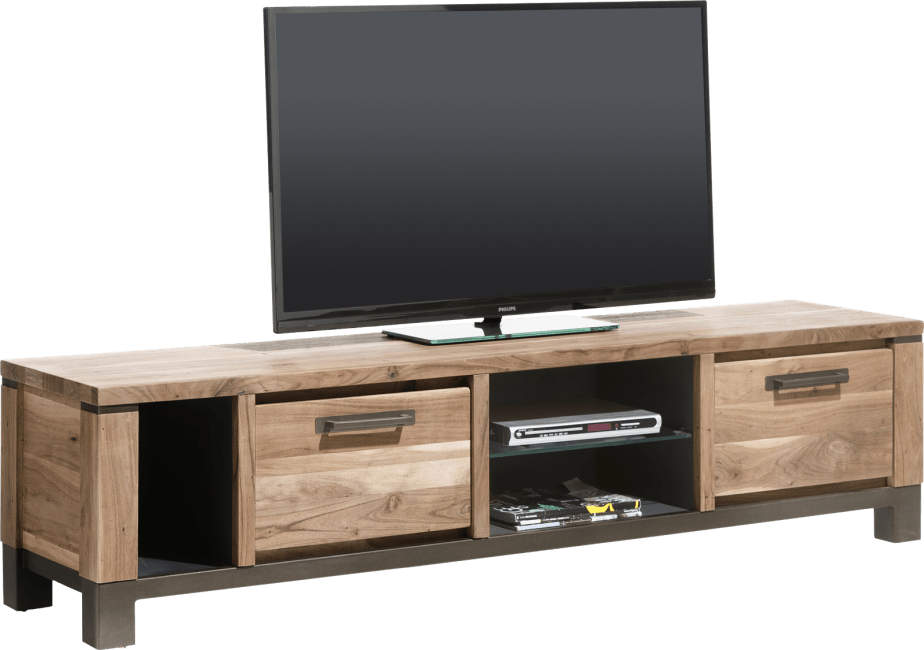 Henders & Hazel - Falster - tv-sideboard 190 cm - 1-lade + 1-klappe + 3-nischen