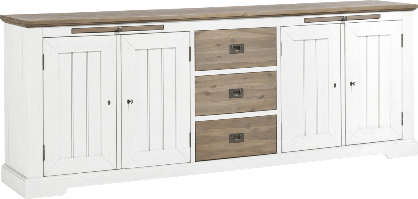 Henders & Hazel - Le Port - Landlich - sideboard 240 cm - 4-tueren + 3-laden + 2-tabletts