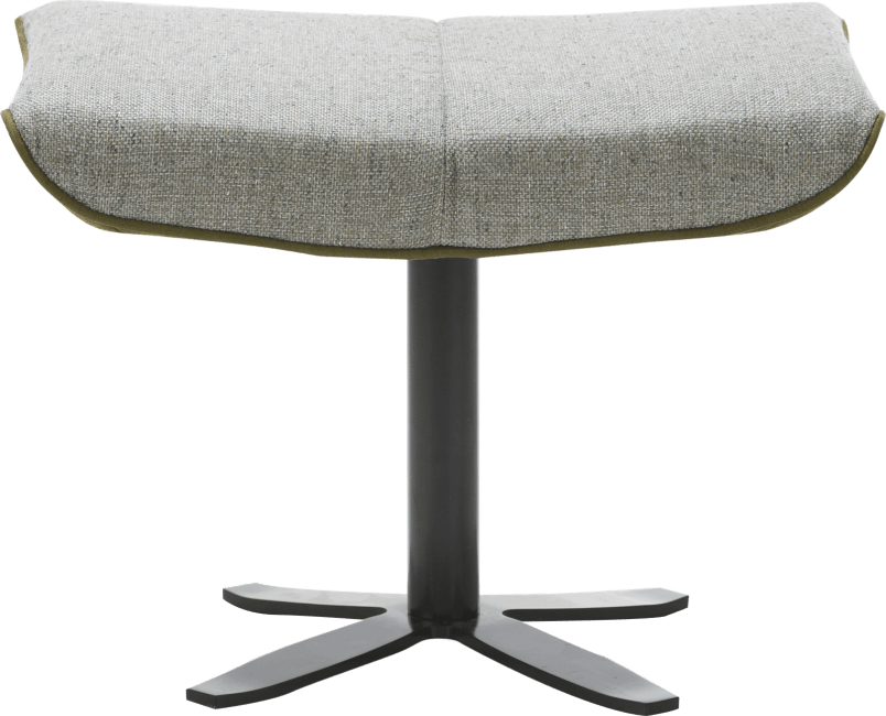 XOOON - Flaremont - Design minimaliste - pouf - pied metal noir