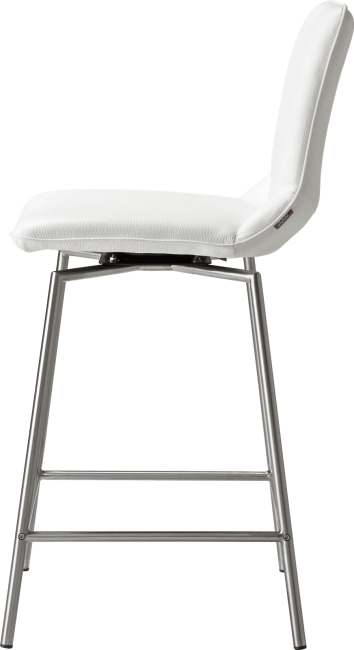 XOOON - Davy - Design minimaliste - chaise de bar inox + tatra