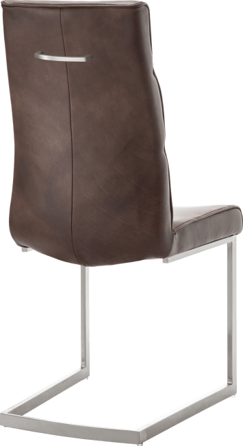 XOOON - Jascha - Industrieel - eetkamerstoel - swing rvs vierkant + greep