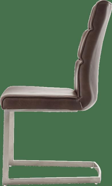 XOOON - Jascha - Industriel - chaise - inox traineau carre