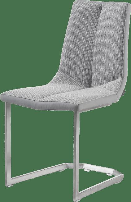 XOOON - Artella - design Scandinave - chaise inox traineau carre