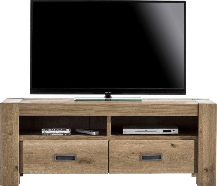 Henders and Hazel - Santorini - Natuurlijk - tv-dressoir 140 cm - 2-laden + 2-niches