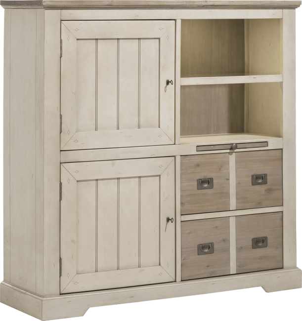 Henders & Hazel - Le Port - Landlich - highboard 2-tueren + 2-laden + 2-nischen + 1-tablett (+ led)