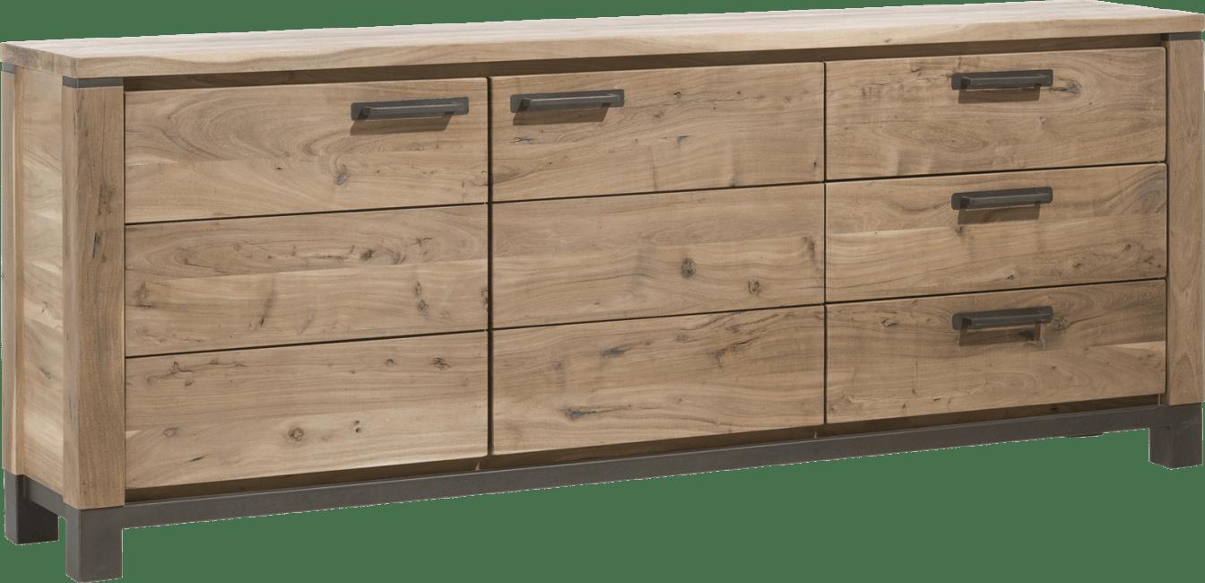 Henders & Hazel - Falster - dressoir 220 cm - 2-deuren + 3-laden