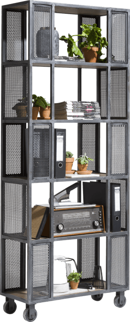 Henders and Hazel - Vitoria - Industrieel - roomdivider 5-niches - 80 cm