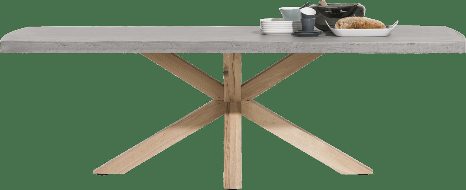 Maestro tisch 240 x 103 cm beton platte