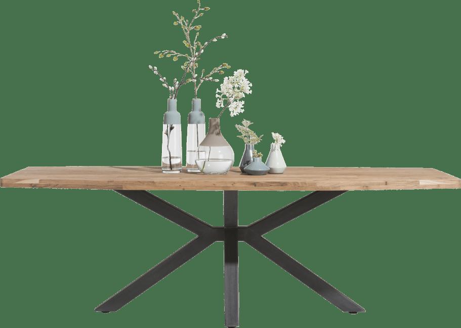 H&H - Quebec - Pur - table 210 x 100 cm - pieds en metal