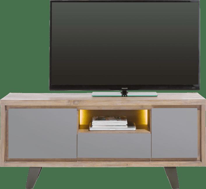 Henders & Hazel - Box - Modern - lowboard 140 cm - 1-tuer + 1-lade + 1-klappe + 1-nische (+ led)