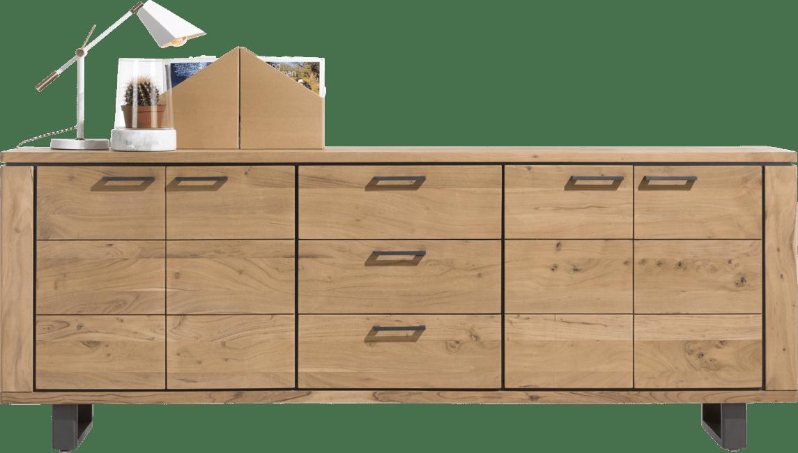 Henders & Hazel - Quebec - Pur - buffet 240 cm - 4-portes + 3-tiroirs