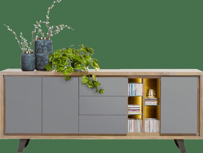 Henders & Hazel - Box - Modern - sideboard 210 cm - 3-tueren + 3-laden + 5-nischen (+ led)