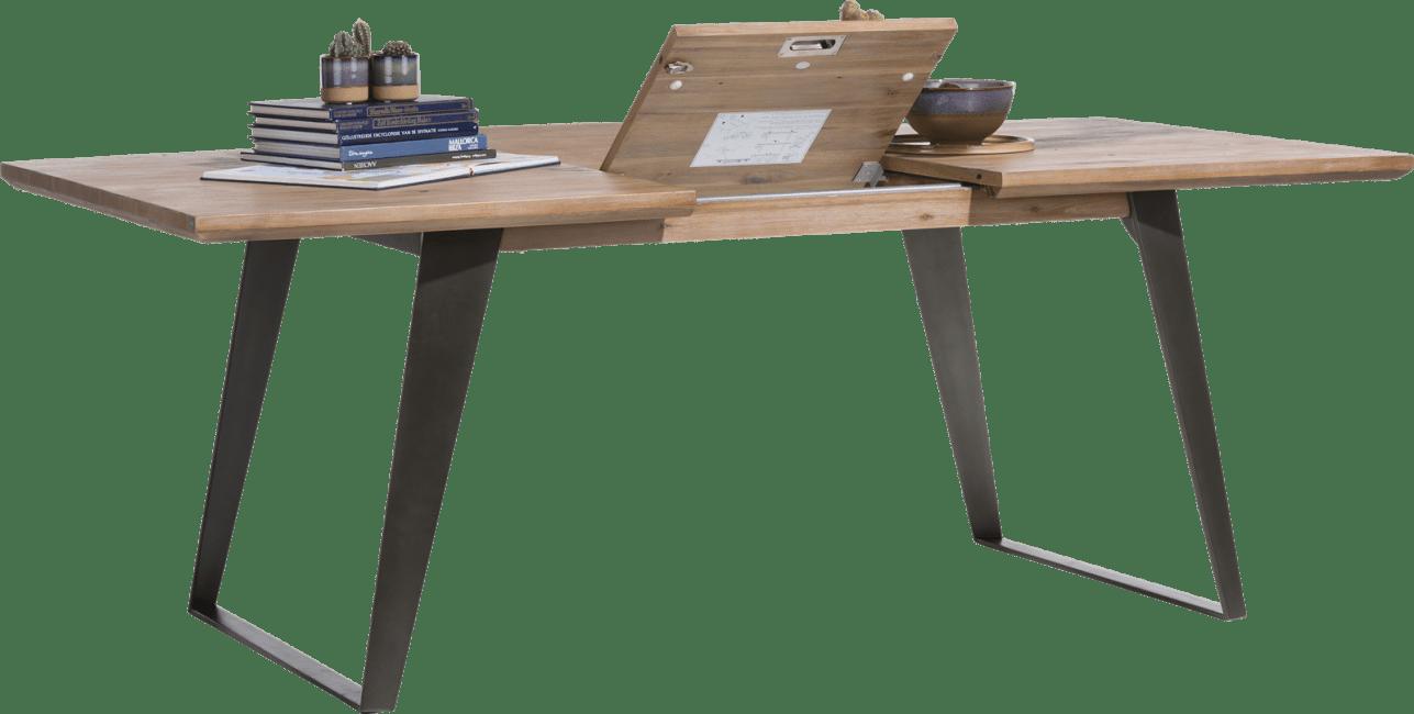 Henders and Hazel - Box - Modern - uitschuiftafel 160 (+ 50) x 100 cm - vierkante poot