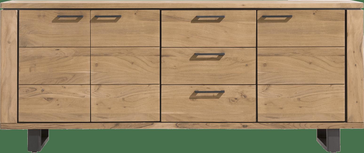 Henders and Hazel - Quebec - Natuurlijk - dressoir 210 cm - 3-deuren + 3-laden