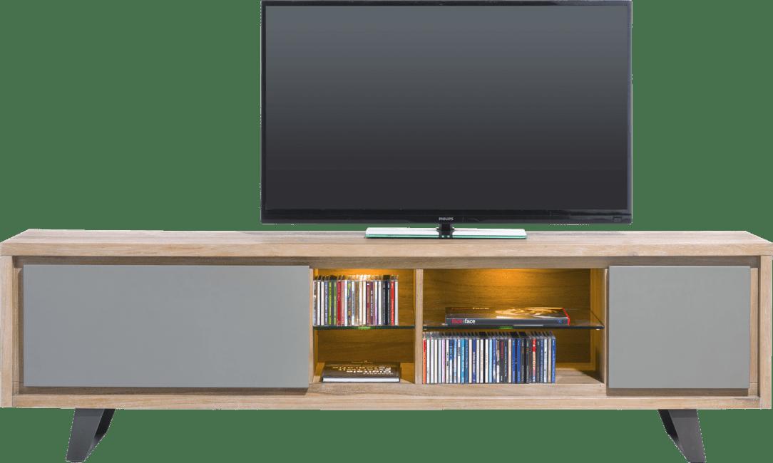 Henders and Hazel - Box - Modern - lowboard 210 cm - 1-lade + 1-klappe + 4-nischen (+ led)