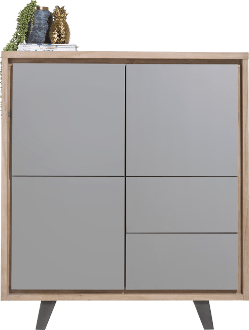Henders and Hazel - Box - Modern - schrank 125 cm - 3-tueren + 2-laden