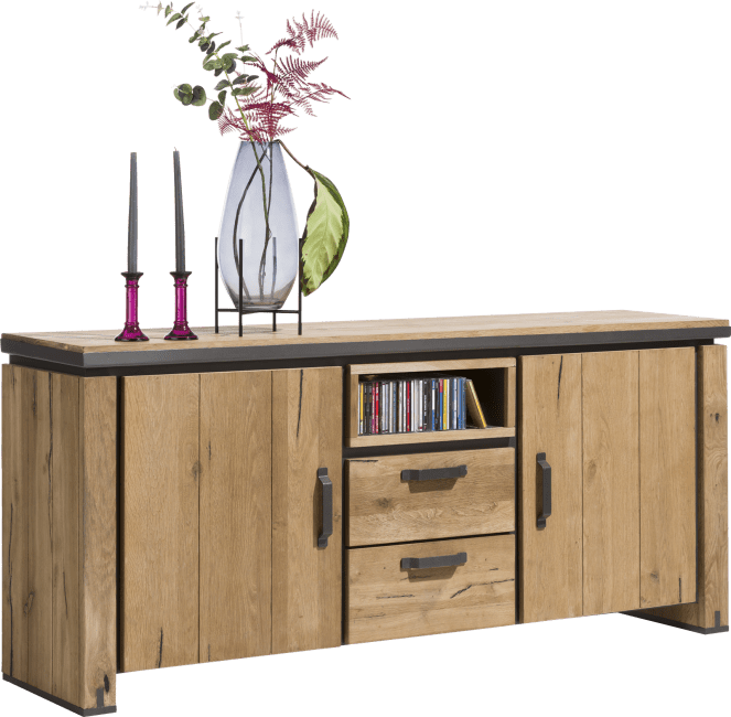 Henders and Hazel - Farmland - Landlich - sideboard 180 cm - 2-tueren + 2-laden + 1-niche (+ led)