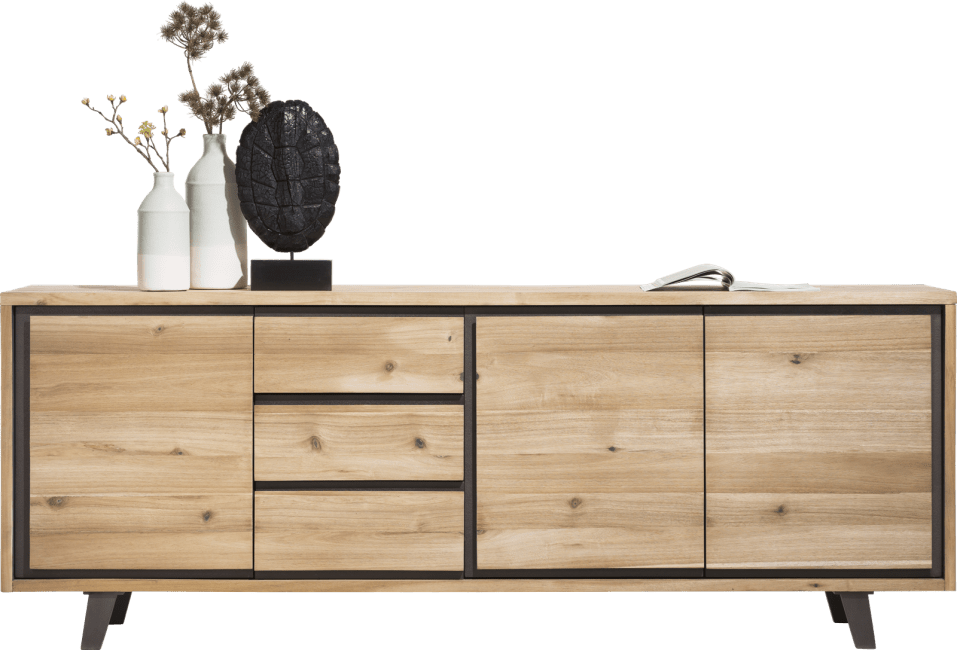 Henders and Hazel - Prato - Industrie - sideboard 240 cm - 3-tueren + 3-laden
